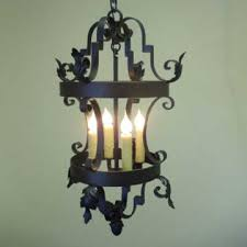 Simple Wrought Iron Chandelier Wrought Iron Lighting Chandeliers Mission Lighting