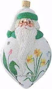 breen ornament santa poeticus pearl 2002 2035