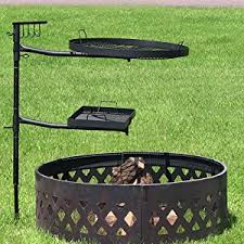fire pit cooking grate amazon com dual campfire cooking swivel grill system by
