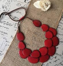 red necklace images Red statement tagua nut necklace galapagos tagua jewelry jpg