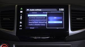 honda pilot audio system xm radio tune start on the 2016 honda pilot