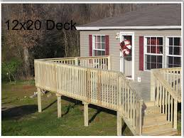 deck for mobile home deck installer deck building contractor