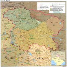 Physical Map Of India by India Tibet Border
