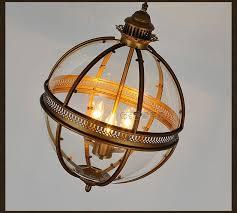 Glass Sphere Pendant Light Dsq Mediterranean American Rural Glass Orb Pendant Light In