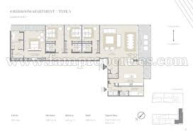 floor plans city walk jumeirah by meraas 4 bed city walk building 5 4 bed floor plan type 4br type a yes no 3 830 apartment