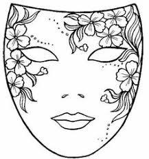 coloriage le masque la plume birthday masking