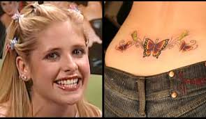 butterfly on lower back for