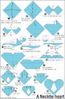 origami Necktie Heart en.origami-club.com
