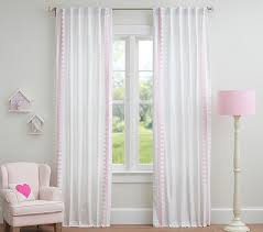 Pottery Barn Curtains Embroidered Blackout Panel Pottery Barn Kids