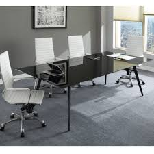 buy lorell black glass conference table top 72