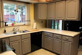 shabby chic painted kitchen cabinets monsterlune