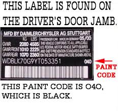 how to find paint code on 430clk w208 year 2000 mercedes benz forum