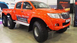 toyota truck hilux toyota hilux at44 6x6 arctic trucks alterego exterior walkaround