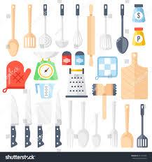 kitchen tools cooking equipment kitchen utensils stock vector