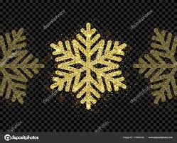 snow decoration christmas golden snowflake glitter pattern black background vector