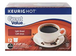 keurig k cups light roast great value light roast k cup coffee walmart canada