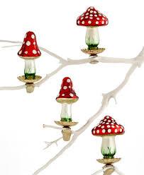box of 4 glass mini ornaments created for