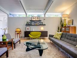 mid century modern home decor comfortable urban house living room