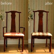 How To Make Dining Room Chair Covers Before And After Make Dining Room Chair Cover Cool Dining Room