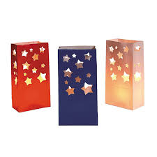 paper bag halloween luminaries amazon com patriotic luminary bags red white and blue 4 of july