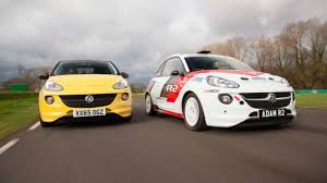 vauxhall adam twin test vauxhall adam s vs r2 rally car top gear