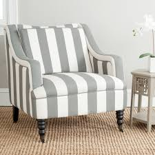 Grey And White Accent Chair Safavieh Homer Arm Chair Grey Blue White Accent Chairs At