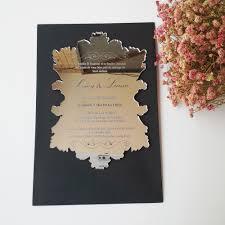 online get cheap mirror shaped wedding invites aliexpress com