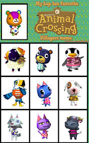Animal Crossing Villager Meme - top 10 favorite animal crossing villagers meme by superkittymikel