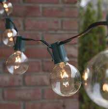 Clear Patio String Lights Patio Lights Commercial Clear Globe String Lights 50 G50 E17