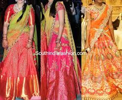 silk half saree designs south india fashion