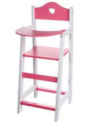 chaise haute poup e chaise haute en bois pour poupon design à la maison