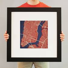 Downtown Manhattan Map New York City Lower Manhattan Map Art City Prints