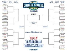 2015 college sports nation traditions tournament voting is open