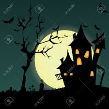 dark halloween background abstract dark castle silhouette on special halloween background