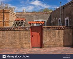 old adobe house in santa fe new mexico stock photo royalty free