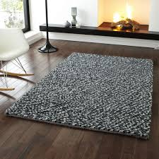 Grey Modern Rugs Pebbles Grey Pb 10 Knotted Modern Shaggy Rug 120 X 170cm Sale