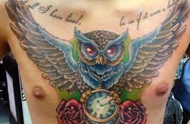43 owl pocket watch tattoo
