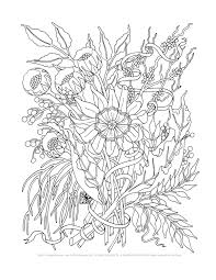printable coloring pages of flowers coloring pages for young adults chuckbutt com