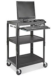 Movable Computer Desk Laptop Carts Mobile Computer Carts In Stock Uline
