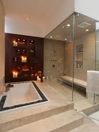 bathroom big bathroom with square bathtub and large glass wall