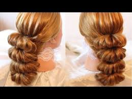 hairstyles using rubber bands причёска с помощью резинок красота 5 hairstyles by rem