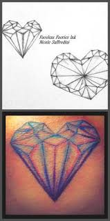 8 best heart shaped diamond tattoos images on pinterest alice