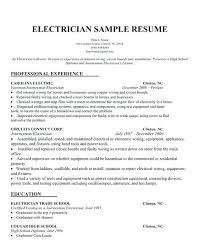 resume samples for electricians u2013 topshoppingnetwork com