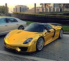 porsche chrome ld s first chrome gold wrapped porsche 918 spyder spotted in saudi