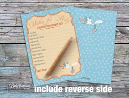 wishes for baby cards wishes for baby card instant printable stork baby shower