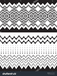 tribal ornamental borders vector illustration stock vector