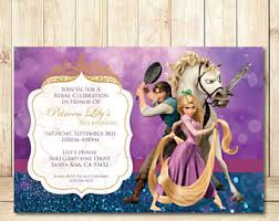 rapunzel invitations etsy