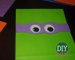 diy ninja turtle party favor bags diy swank