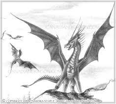 canadian dragon fantasy art original dragon cliff drawing
