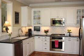 White Cabinet Kitchens With Granite Countertops Granite Counters For White Cabinets Inspiring Home Design